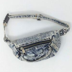 Vintage Small Blue Jean Denim Belt Bag